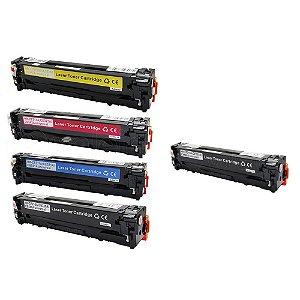 Kit 4 Toner HP CP1215 | CM1312 CMYK + Toner HP CB540A Black Compatível