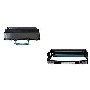 Kit Fotocondutor + Toner Compativel para Lexmark E260 | E360 | E460