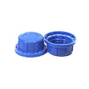 Kit 10 Tampas Azuis para Frasco de Envase de Pó PEAD
