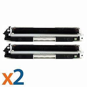 Kit 2 Toners para HP CP1025 | M175NW | CE310A | 126A Black Compatível