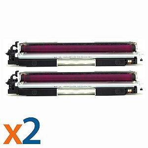 Kit 2 Toners para HP CP1025 | M175NW | CE313A | 126A Magenta Compatível
