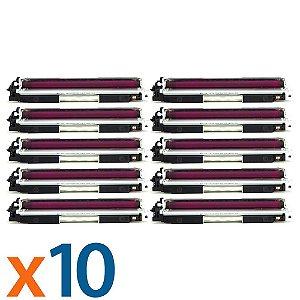 Kit 10 Toners para HP CP1025 | M175NW | CE313A | 126A Magenta Compatível