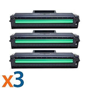 Kit 3 Toners para Samsung ML 2165 | SCX 3400 | MLT D101S Compatível