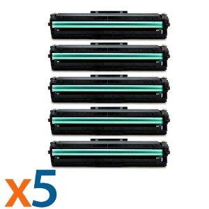 Compatível: Kit 5 Toners para Samsung MLT D111S | M2020 | M2070