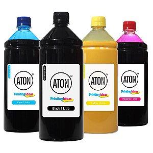 Kit 4 Tintas para HP 970 | 971 ATON Pigmentada CMYK 1 litro