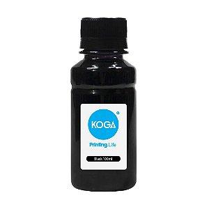 Tinta Universal para HP Black 100ml Pigmentada Koga