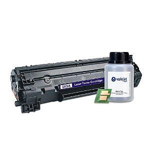 Kit Toner e Chip + Refil 70g Valejet para HP 285a | P1102w Compatível