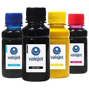 Kit 4 Tintas para HP 8100   8600 CMYK 100ml Pigmentada Valejet