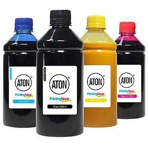 Kit 4 Tintas para HP 8100 | 8600 CMYK 500ml Pigmentada Aton