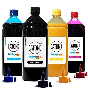 Kit 4 Tintas para Epson Universal CMYK 1 Litro Pigmentada Aton