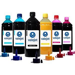 Kit 6 Tintas Sublimáticas para Epson L800 Bulk Ink CMYK 1 Litro Valejet