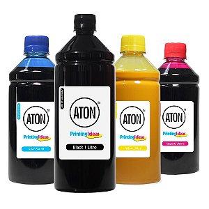 Kit 4 Tintas para HP 950   951 Black 1 L Color 500ml Pigmentada Aton