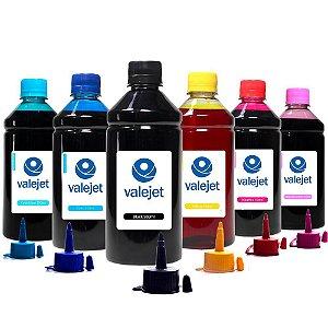 Kit 6 Tintas L805 para Epson Bulk Ink CMYK 500ml Valejet
