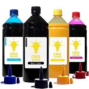 Kit 4 Tintas para Sublimação Premium Crie Sempre CMYK 1 Litro