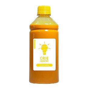 Tinta para Sublimação Premium Crie Sempre Yellow 500ml