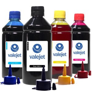 Kit 4 Tintas L656 para Epson Bulk Ink CMYK 500ml Valejet