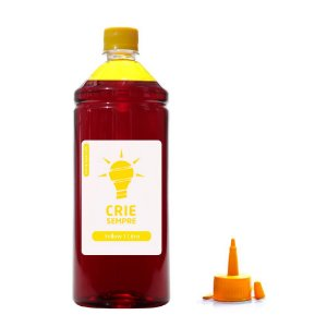 Tinta para Epson L375 Premium Crie Sempre Yellow 1 Litro Corante