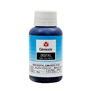 Tinta para Sublimação Digital Gênesis para Epson Universal Alta Performance Cyan 100ml