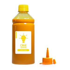 Tinta para Epson L355   L200 Yellow Pigmentada Crie Sempre 500ml