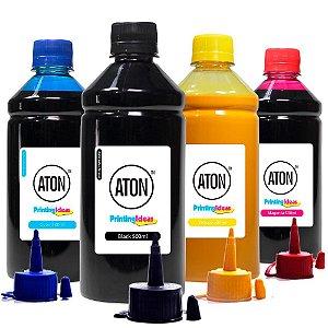 Kit 4 Tintas para Epson L575 Ecotank CMYK Aton Pigmentada 500ml