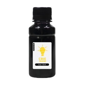 Tinta para Cartucho HP 122 | 122XL Black 100ml Pigmentada Crie Sempre
