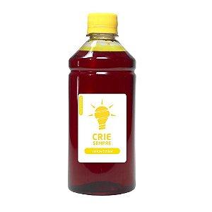 Tinta para Cartucho HP 60 | 60XL Yellow 500ml Corante Crie Sempre