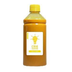 Tinta para Cartucho HP 933   933XL Yellow 500ml Pigmentada Crie Sempre