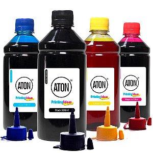Kit 4 Tintas para Epson L120 | L-120 Bulk Ink CMYK Aton Corante 500ml