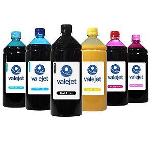Kit 6 Tintas para Epson L810 CMYK 1 Litro Pigmentada Valejet