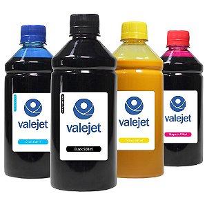 kit 4 Tintas para HP 904 |904XL |OfficeJet6960|6970 CMYK 500ml Pigmentada Valejet
