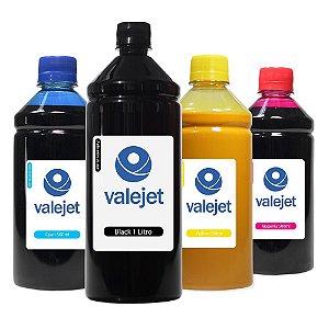Kit 4 Tintas para HP 904   904XL Black 1 Litro Coloridas 500ml Pigmentada Valejet