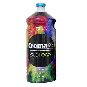 Tinta para Epson Ecotank Sublimática L495 Cyan 1Kg Cromajet