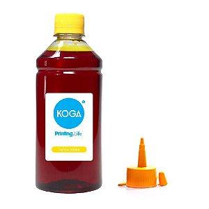 Tinta para Epson L475 EcoTank Yellow Corante 500ml Koga