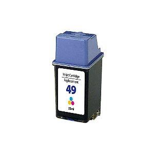 Cartucho para HP 49 | 51649 Colorido Compatível 23ml