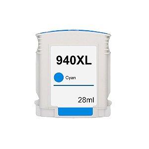 Cartucho para HP 940XL | C4907AL Alto Rendimento Ciano Compatível 28ml