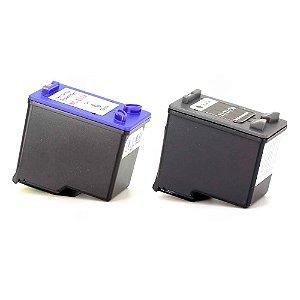 Kit Cartucho HP 21 | 27 | 56 | 22 | 28 | 57 Preto e Color Compatível