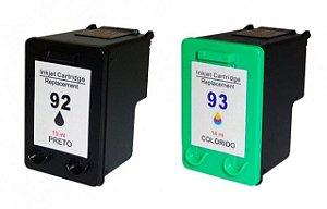 Kit Cartucho HP 92 Preto + 93 Colorido Compatível
