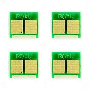 Kit 4 Chip para HP CP3525 | CE250A | CE251A | CE252A | CE253A CMYK