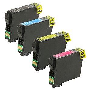 Kit 4 Cartuchos de Tinta para Epson T194 XP214 CMYK Compatível