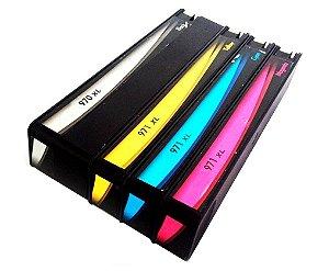 Kit 4 Cartuchos para HP 970XL   971XL   Pro X476DW   CMYK Compatível