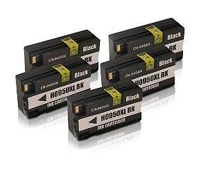 Kit 5 Cartucho HP 950XL | 8600 Black Alto Rendimento Compatível