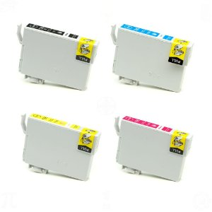 Kit 4 Cartuchos de tinta para Epson 196 CMYK Compativel