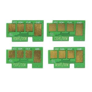 Kit 4 Chip para Samsung CMYK 504S