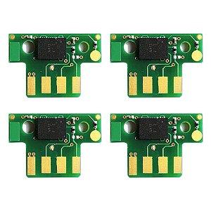 Kit 4 Chip Lexmark X544 | C544 | X548 | C540 | X543 CMYK