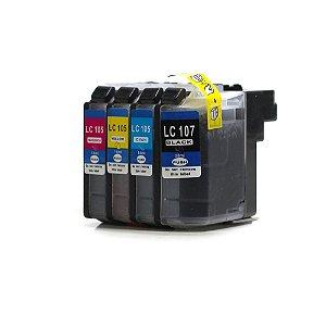 Kit Cartuchos para Brother LC 103 | LC 105 Universal CMYK Compatível