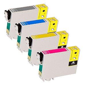 Kit 4 Cartuchos para Epson XP231 | XP431 Black 17ml e Coloridas 13,5ml Compatível