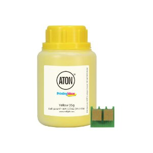Refil de Toner + Chip para HP 130A | CF352 | M177FW Yellow ATON 35g