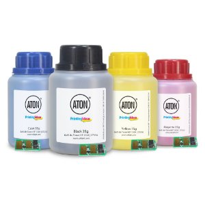 Kit 4 Refil de Toner ATON  + Chips Para HP 130A | CF350 CMYK 35g