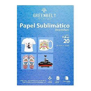 Papel para Sublimação R90 A3 110g - Pacote com 20 folhas Greenbelt