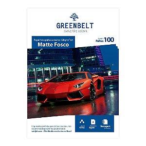 Papel Fotográfico Adesivo Matte Fosco 128g Greenbelt 100 Folhas